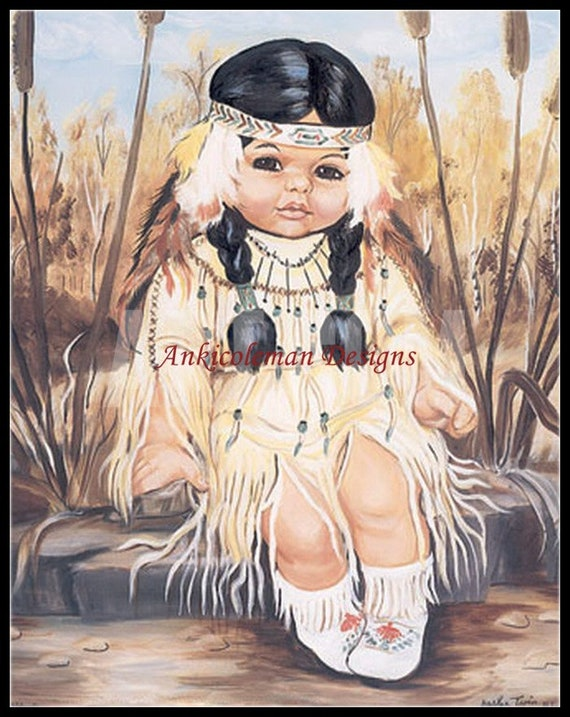The Cherokee Child Counted Cross Stitch Kits Chart Needlework Crafts DIY
