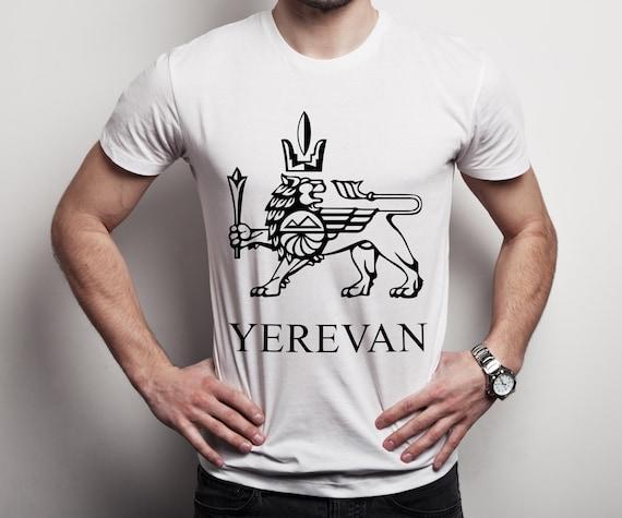 À manches courtes T-shirt pour homme comportant le la symbole de Erebuni - Erevan, la le ville d'Erevan, capitale de l'Arménie, T-shirt emblématique d'impression 929022