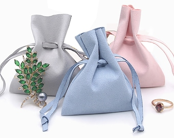 Faux suede soft blue gray reversible fleece and stirrup covers IRON protecters storage bags