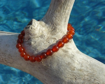 Carnelian bracelet / Rose Quartz