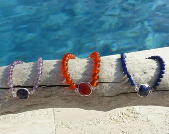 Bracelet Pierres Naturelles Argent 925