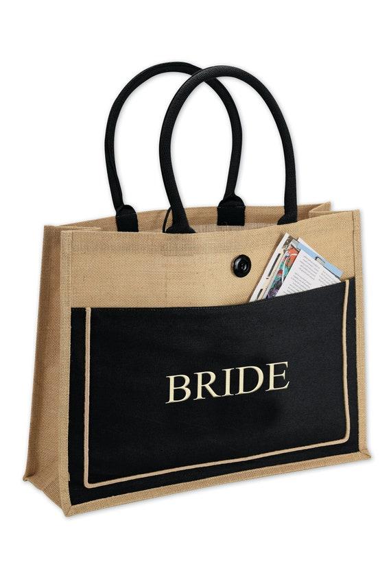 9ce162de01 Natural 2-Tone Brown Black Cotton Canvas Jute Bags