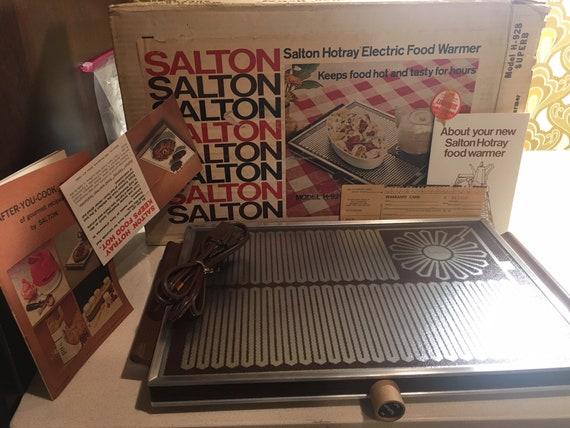 Salton Hotray Electric Food Warmer Model H-928 NIB | Etsy