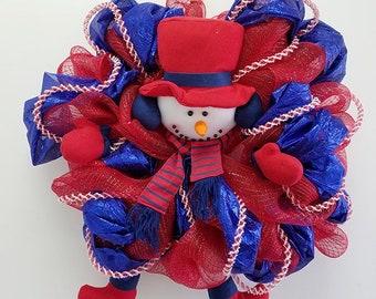 Patriotic Snowman