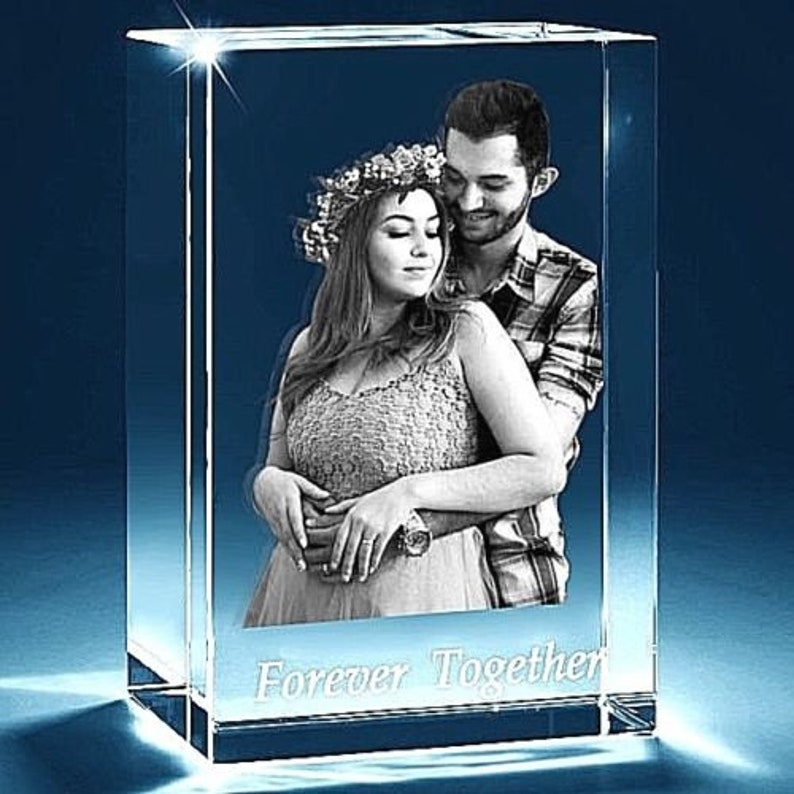 Personalised Laser 3D Prestige Crystal Amazing Large Present for a special one