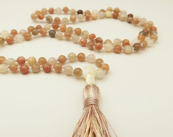 Sunny Sunstone Mala Beads | Multi-Colored Sunstone | Gift for Girlfriend | Gift for Expectant Mother | Bridal Jewelry