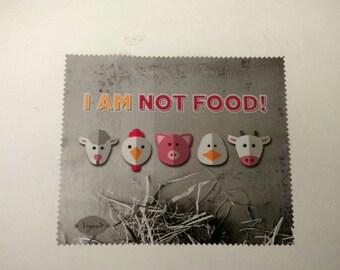 vegan microfiber cleaning cloth glasses I am NOT FOOD