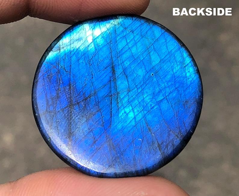 60 Carats Top Quality Rare Blue Labradorite Cabochon Round Cabochon 31 MM Height 8 Top Rare Blue Labradorite Fine Quality Cabochon Loose