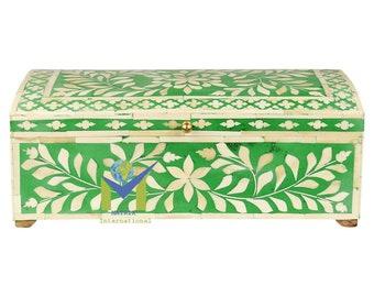 Bone Inlay Emerald Green Multi Purpose Box By hpCreations