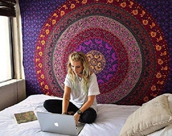 Tapestry Wall Hanging Bedroom Wall Decor Mandala Tapestry bohemian wall tapestries Boho Decor Dorm Decor Hippie Tapestry Art Large Wall Art