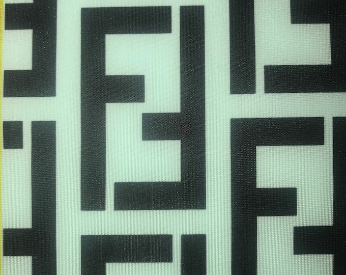 23310de79 FN-301 Designer inspired Fend Mint Green with Black FF Bape Supreme spandex  Lycra Fabric