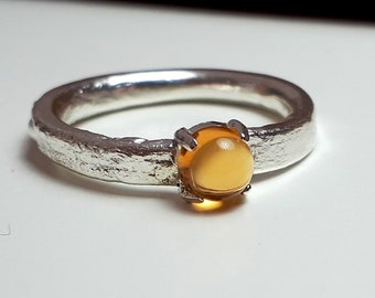 Sterling silver citrine set ring
