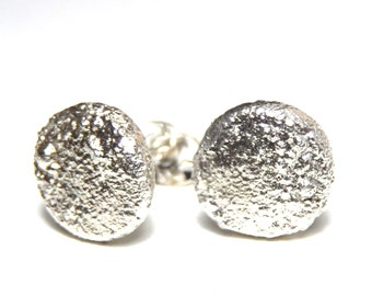 Silver stud earrings, stud earrings, earrings, silver jewellery, handmade modern jewellery design