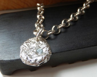 Recycled sterling silver necklace