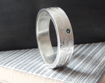 Sterling silver unisex rings