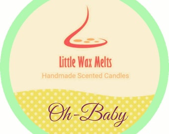Handmade- Oh Baby Scented Scoopable Soy Wax 60g