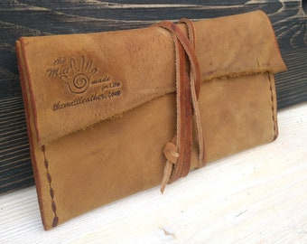 Tobacco Case * Travel Pouch * Tobacco Pouch * Leather Pouch * Tobacco Leather Wallet * Tobacco Bag * Handmade Pouch , Leather Rolling Case