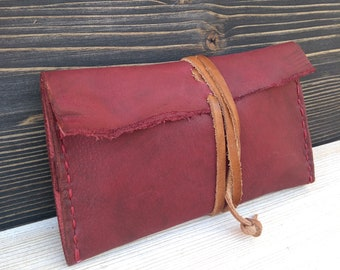 Tobacco Pouch * Leather Pouch * Tobacco Case * Tobacco Wallet * Travel Wallet * Wallet Document * Tobacco Bag * Rolling Case,Travel Document