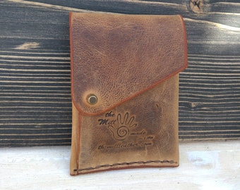 Leather Wallet * Leather Card Wallet * Men's Wallet * Card Case * Travel Wallet * Folded Wallet * Gift For Him * Slim Wallet , ID Wallet