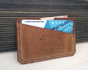 Men's Leather Wallet * Minimalist Wallet * Business Card Holder * Slim Wallet * Credit Card Wallet * Travel Wallet * ID Wallet, Card Case