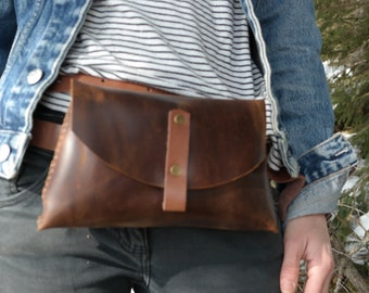 Leather Waist Bag * Travel Belt Bag * Festival Bag * Fanny Pack * Bum Bag * Small Bag * Waist Pack * Leather Bag * Fashion Bag , Fanny Bag