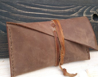 Tobacco Pouch * Rolling Case * Leather Pouch * Travel wallet * Tobacco Case * Tobacco Bag * Travel Pouch * Handmade Pouch , Tobacco Wallet