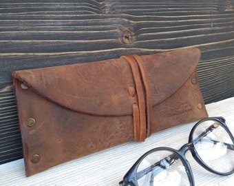 Sunglasses Case * Glasses Pouch * Case for Glasses * Leather Pouch * Travel Gift * Glasses Accessory * Glasses Holder , Glasses Box