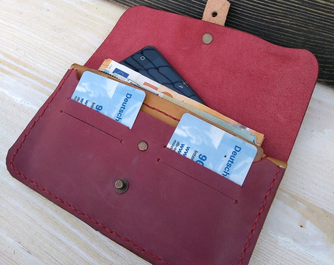 Featured listing image: Travel Belt Wallet * Women Leather Wallet * Document Wallet * Phone Cover * Minimalist Wallet * Document Holder * Card Wallet, ID Wallet