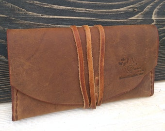 Leather Pouch * Tobacco Case * Tobacco Wallet * Leather Rolling Case * Travel Pouch * Tobacco Pouch * Tobacco Bag , Handmade Pouch