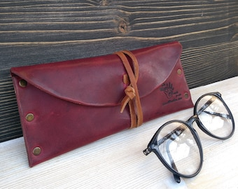 Glasses Pouch * Leather Glasses Case * Sunglasses Case * Leather Pouch * Case For Glasses * Glasses Accessories , Glasses Holder