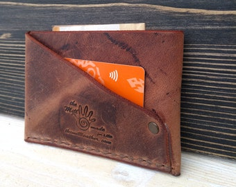 Men's Slim Wallet * Leather Wallet * Leather Card Wallet * Credit Card Case * Money Wallet * Minimalist Wallet , Business Card Holder