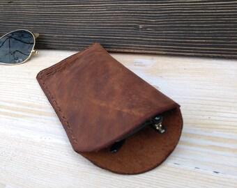 Leather Glasses Holder * Leather Glasses Case * Glasses Pouch * Leather Pouch * Glasses Box * Glasses Accessories , Leather Holder
