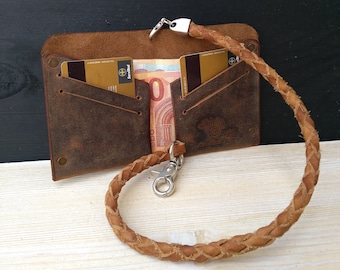 Leather Wallet Chain & Men's Wallet * Leather Chain * Travel Wallet * Card Wallet * Chain Wallet * Biker Chain , Chain For Bikers