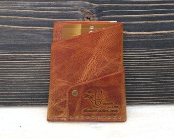 Leather Wallet * Card Wallet * Men's Wallet * Folded Wallet * Minimalist Wallet * Card Case * Travel Wallet * Gift For Him , Slim Wallet