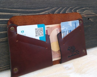 Leather Wallet * Minimalist Wallet * Card Holder * Money Wallet * Slim Wallet * Men's Wallet * Card Wallet * Travel Wallet , ID Wallet