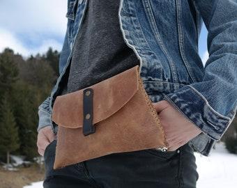 Leather Fanny Pack * Travel Belt Bag * Leather Waist Bag * Festival Bag * Leather Waist Pack * Women Fanny Bag * Men's Waist Bag , Bum Bag