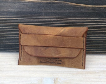 Credit Card Wallet * Slim Leather Wallet * Business Card Case * Leather Card Holder *Document Holder * Leather Wallet , Handmade ID Wallet