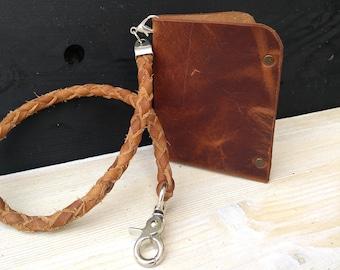 Leather Wallet Chain & Men's Wallet * Biker Leather Chain * Men's Chain * Travel Wallet * Card Wallet * Chain For Wallets , Slim Wallet