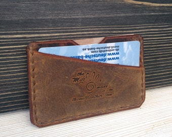 Slim Leather Wallet * Minimalist Wallet * Card Wallet * Men's Wallet * Card Holder * Business Card Case * Wallet for Women , ID Wallet