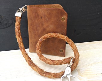 Leather Chain Wallet & Men's Wallet * Chain for Bikers * Men's Chain * Card Wallet * Slim Wallet * Keychain Wallet , Bikers Chain Wallet