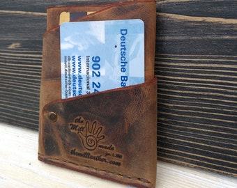 Slim  Wallet * Men's Leather Wallet * Card Wallet * Minimalist Wallet * Card Case * Travel Wallet * Folded Wallet * Card Holder , ID Wallet