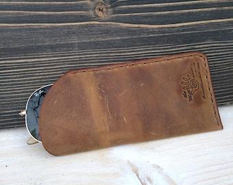 Leather Glasses Case * Sunglasses Case * Glasses Pouch * Leather Pouch * Glasses Accessory * Glasses Box * Leather Holder , Case For Glasses