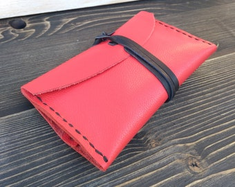 Leather Tobacco Pouch * Leather Pouch * Tobacco Case * Brown Pouch * Tobacco Bag * Rolling Case * Handmade Pouch, Travel Pouch