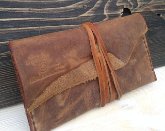 Rolling Case * Travel Pouch * Tobacco Pouch * Leather Pouch * Tobacco Case * Tobacco Wallet * Leather Tobacco Bag , Handmade Pouch