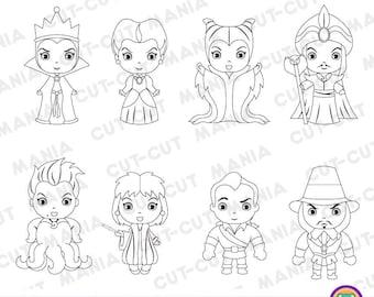 disney villains coloring pages | Disney zeichnen, Malvorlagen ... | 270x340