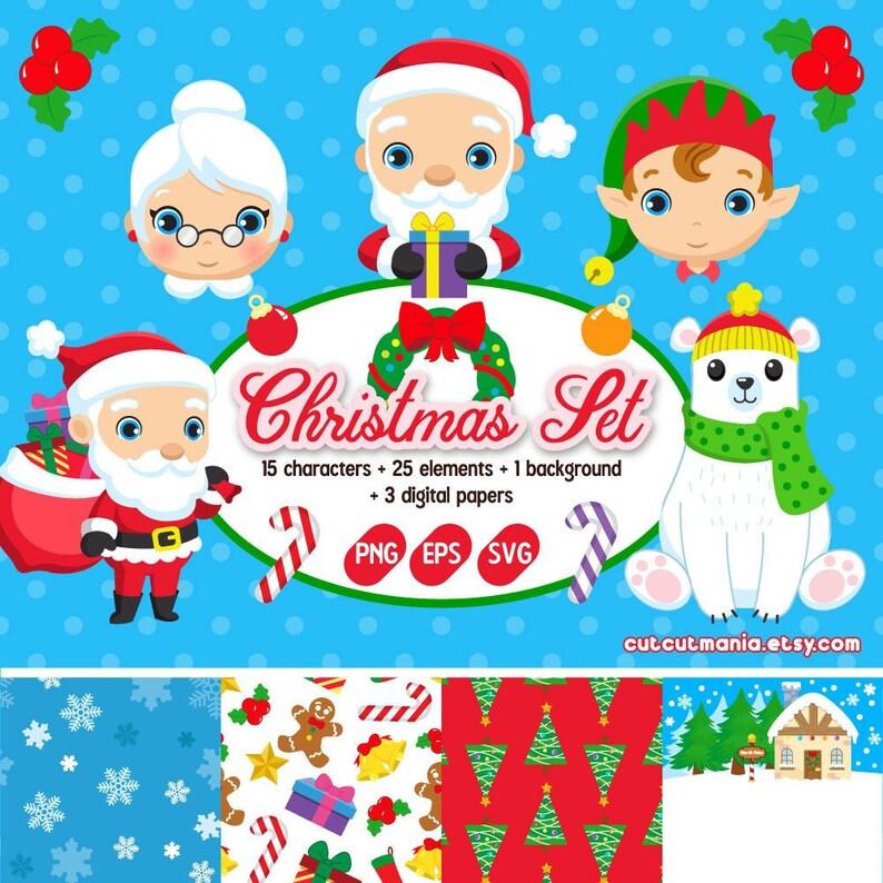 Weihnachtskarten Clipart.Cliparts Für Weihnachtskarten Weihnachtscliparts Elf Clipart Santa Claus Clipart Niedlichen Rentier Schneemann Svg Eps Png Frohe Weihnachten