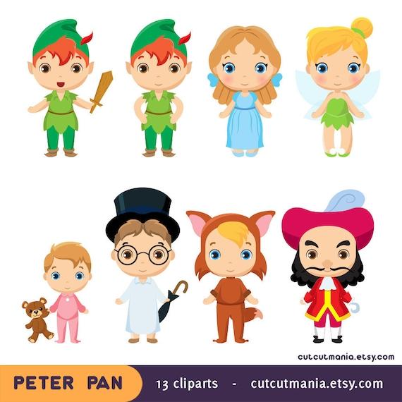 Peter Pan Clipart Neverland Clipart Peter Pan Fan Art Etsy