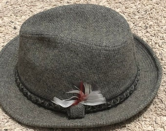 e1a54cc3 EUC Vintage Dobbs Fifth Avenue New York Gray Wool Fedora Size 7 1/4