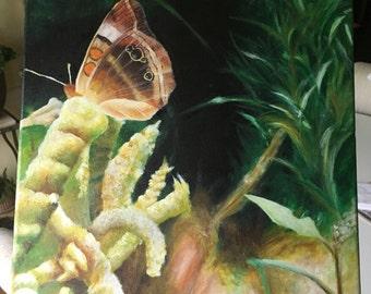 "Butterfly Garden - original acrylic painting 12"" x 12"""
