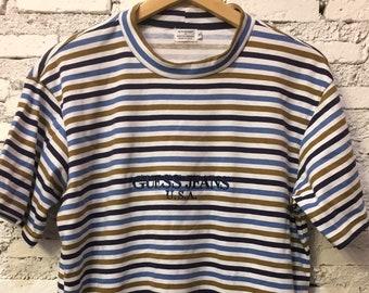 abb4bdbf9b Vintage Guess Striped Guess Jeans USA Multicolor Tshirt Size M